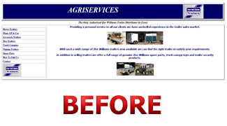 Agriservices Website Before